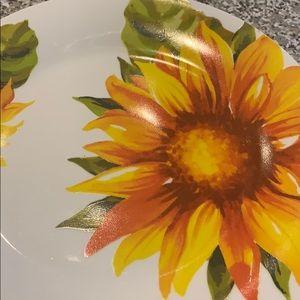 Set of 2 sunflower plates